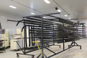 image of a step in the construction of a polycarbonate door